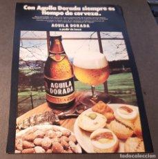 Carteles Publicitarios: HOJA PUBLICIDAD. CERVEZA AGUILA DORADA. A PEDIR DE BOCA. READERS DIGEST 1974.. Lote 158816518