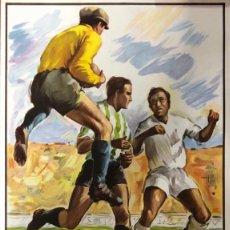 Affiches Publicitaires: SEMIFINAL COPA DE LA UEFA REAL MADRID INTER DE MILAN. DECADA AÑOS 80.. Lote 159183682