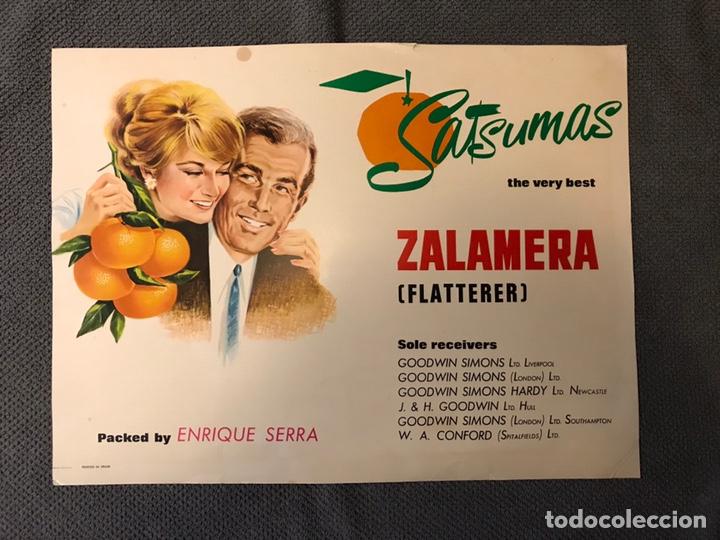PUBLICIDAD. CARTELES DE NARANJAS. SATSUMAS ZALAMERAS. BY ENRIQUE SERRA (H.1960?) (Coleccionismo - Carteles Gran Formato - Carteles Publicitarios)