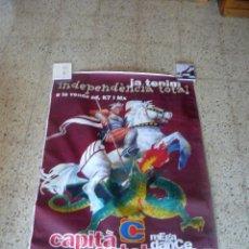 Carteles Publicitarios: GRAN POSTER - JA TENIM INDEPENDENCIA TOTAL - CAPITÁ CATALUNYA - LANZAMIENTO DEL CD, K7 Y MX - 1995. Lote 159772946