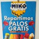 Carteles Publicitarios: RARO Y ÚNICO CARTEL HELADOS MIKO H. FOURNIER AÑO 1988. Lote 161153290