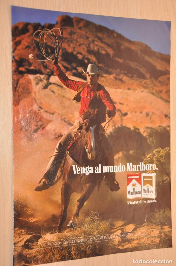 HOJA PUBLICIDAD MARLBORO (Coleccionismo - Carteles Gran Formato - Carteles Publicitarios)