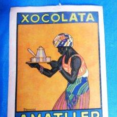 Affissi Pubblicitari: CARTEL DE CHOCOLATE XOCOLATA AMATLLER POR PENAGOS. NAGSA - ARTS GRÀFIQUES, BARCELONA, DÉCADA DE 1920. Lote 161779754