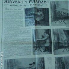 Carteles Publicitarios: SIRVENT Y PUJADAS. BARCELONA. MESAS PARA DIBUJO.. Lote 161968162