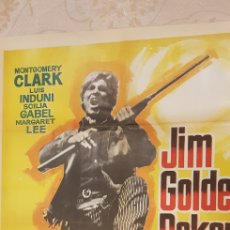 Carteles Publicitarios: JIM GOLDEN POQUER. CARTEL.. Lote 162862510