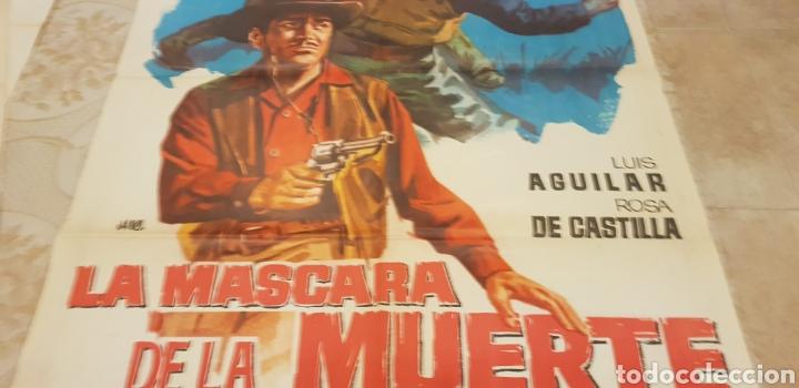 Carteles Publicitarios: LA MASCARA DE LA MUERTE. CARTEL. LITOGRAFICO. - Foto 3 - 162865201