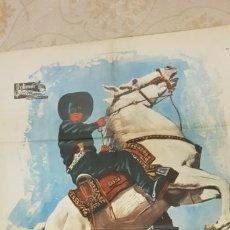 Carteles Publicitarios: EL AGUILA NEGRA.CARTEL LITOGRAFICO 1962.. Lote 162867341