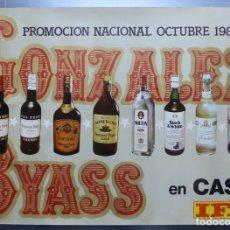 Carteles Publicitarios: CARTEL GONZALEZ BYASS, CASH, IFA - PROMOCION NACIONAL - AÑO 1981. Lote 36891225