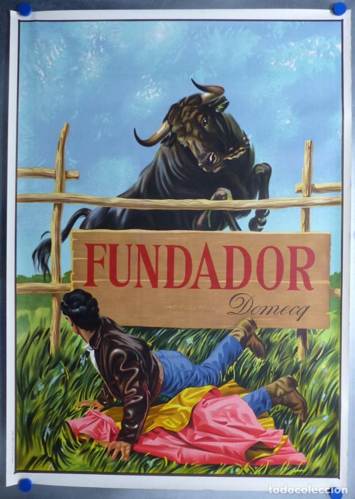 CARTEL FUNDADOR DOMECQ - LITOGRAFIA - AÑO 1967 (Coleccionismo - Carteles Gran Formato - Carteles Publicitarios)
