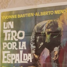 Carteles Publicitarios: UN TIRO POR LA ESPALDA.CARTEL.. Lote 162962065