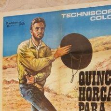 Carteles Publicitarios: QUINCE HORCAS PARA UN ASESINO. CARTEL.. Lote 162962362