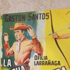Carteles Publicitarios: LAFLECHA ENVENENADA. CARTEL LITOGRAFICO.. Lote 163315993