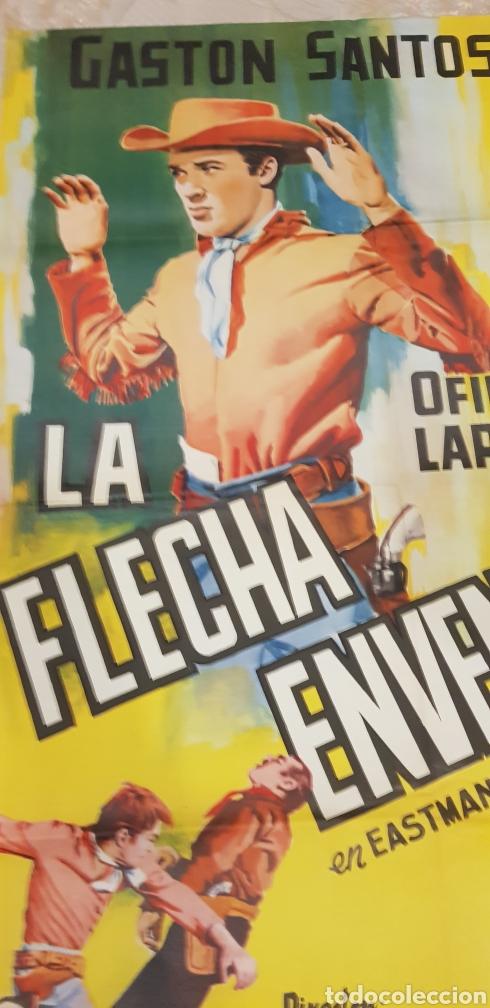 Carteles Publicitarios: LAFLECHA ENVENENADA. CARTEL LITOGRAFICO. - Foto 2 - 163315993