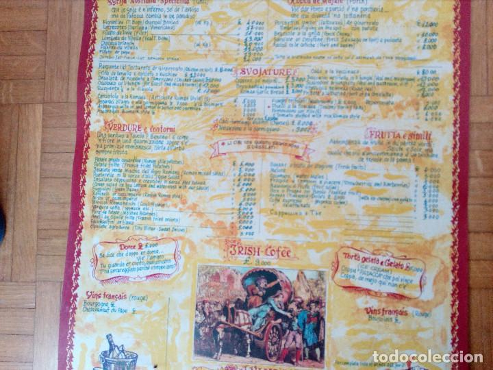 Carteles Publicitarios: CARTEL CON CARTA, MENU DE RESTAURANTE DA MEO PATACCA. ROMA ITALIA 60S ROME CAFE. - Foto 4 - 163402750