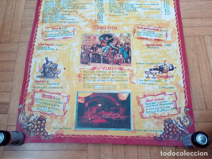 Carteles Publicitarios: CARTEL CON CARTA, MENU DE RESTAURANTE DA MEO PATACCA. ROMA ITALIA 60S ROME CAFE. - Foto 5 - 163402750