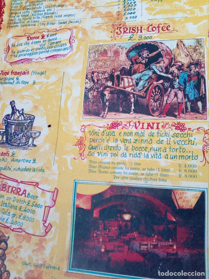 Carteles Publicitarios: CARTEL CON CARTA, MENU DE RESTAURANTE DA MEO PATACCA. ROMA ITALIA 60S ROME CAFE. - Foto 6 - 163402750