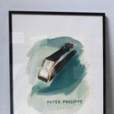 Carteles Publicitarios: CARTEL. ENMARCADO EN METACRILATO. PATEK, PHILIPPE. MAITRES HORLOGERS. GENOVA. 32 X 42CM. VER. Lote 163681866