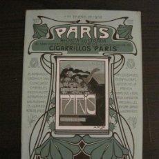 Carteles Publicitarios: CIGARRILLOS PARIS-CATALOGO CARTELES-ALMANAQUE AÑO 1902-MODERNISMO-MUY ILUSTRADO-VER FOTOS-(V-16.897). Lote 163764462