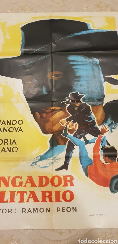 Carteles Publicitarios: EL VENGADOR SOLITARIO. CARTEL - Foto 2 - 163782936