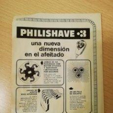 Carteles Publicitarios: HOJA PUBLICIDAD PHILISHAVE / FRIGORÍFICOS PHILIPS. Lote 163794450