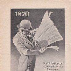 Carteles Publicitarios: HOJA PUBLICIDAD REVISTA ANTIGUA ANIS DEL MONO. Lote 165721066