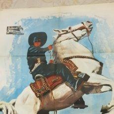 Carteles Publicitarios: EL AGUILA NEGRA .CARTEL LITOGRAFICO.1962.. Lote 165968021