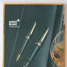 Carteles Publicitarios: MONT BLANC MEISTERSTUCK - CARTEL PUBLICITARIO CON RELIEVE - DISPLAY DE CARTON. Lote 166455358