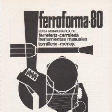Carteles Publicitarios: HOJA PUBLICIDAD FERIA INTERNACIONAL DE BILBAO 1980. Lote 166788802