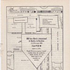 Carteles Publicitarios: HOJA PUBLICIDAD FERIA INTERNACIONAL DE MUESTRAS BARCELONA 1963. Lote 166802466