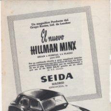Affissi Pubblicitari: HOJA PUBLICIDAD SEIDA MADRID. Lote 166802770