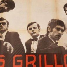 Carteles Publicitarios: LOS GRILLOS.CARTEL.1968. Lote 166936744