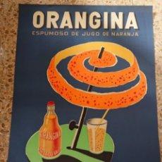 Cartazes Publicitários: CARTEL ORANGINA, VALENCIA, DISEÑO DE VILLEMOT, AÑOS 70,EL DE LA FOTO. Lote 217714778