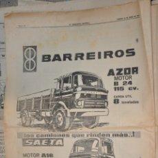 Affissi Pubblicitari: HOJA PUBLICIDAD LA VANGUARDIA 1963 BARREIROS. Lote 167819920