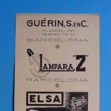 Carteles Publicitarios: ORIGINAL PINTADO A MANO PLUMILLA - BARCELONA, BILBAO, EIBAR, GUIPUZCOA - AÑOS 1920-30. Lote 168893460