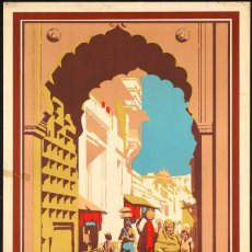 Carteles Publicitarios: POSTER VIAJAR INDIA.SEE INDIA.VINTAGE POSTER INDIA.RETRO POSTER INDIA TRAVEL.. Lote 169125572