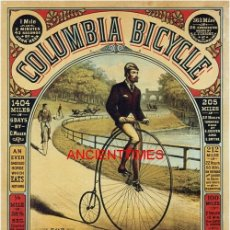 Carteles Publicitarios: COLUMBIA BICYCLES.BICICLETAS COLUMBIA.CARTEL VINTAGE PUBLICIDAD BICICLETAS.BICYCLES ADVERTISING.. Lote 169177336