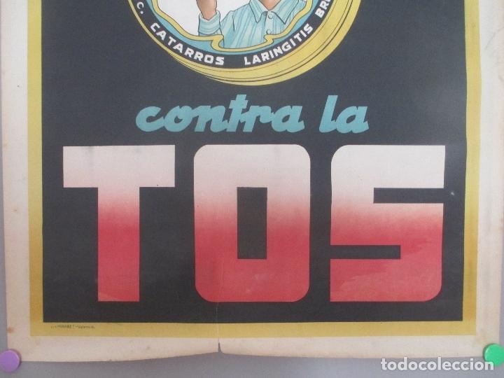 Carteles Publicitarios: CARTEL PUBLICIDAD PASTILLAS ASPAIME, CONTRA LA TOS, MIDE APROX. 70 X 100 CMS - Foto 3 - 169302240