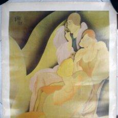 Affissi Pubblicitari: CARTEL PUBLICIDAD , EXPOSICION ART DECO , RENAU , VALENCIA 1980 ,ORIGINAL. Lote 169427680