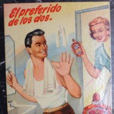 Carteles Publicitarios: CARTEL , CARTON DISPLAY, PUBLICIDAD FRICOT , MASAJE AFEITADO AÑOS 1950-60 , RB. Lote 170371432