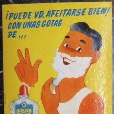 Carteles Publicitarios: CARTEL, CARTON DISPLAY, PUBLICIDAD LICOCREM , MASAJE AFEITAR , AÑOS 1950 60 , ORIGINAL, RB. Lote 170371596