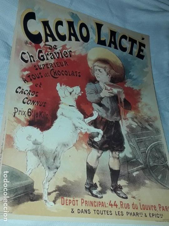 Carteles Publicitarios: Cartel Cacao Lactré Ch. Gravier Editions Ephi Paris 1996 - Foto 2 - 171246040