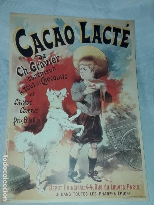 CARTEL CACAO LACTRÉ CH. GRAVIER EDITIONS EPHI PARIS 1996 (Coleccionismo - Carteles Gran Formato - Carteles Publicitarios)