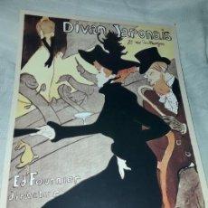 Carteles Publicitarios: CARTEL DIVAN JAPONAIS ED FOURNIER EDITIONS EPHI PARIS. Lote 171247417