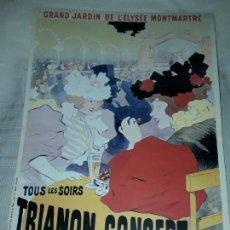 Carteles Publicitarios: CARTEL TRIANON CONCERT SPECTACLE VARIÉ EDITIONS EPHI PARIS. Lote 171248902