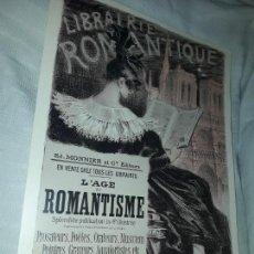 Carteles Publicitarios: CARTEL L´AGE DU ROMANTISME EDITIONS EPHI PARIS 1996. Lote 171257474