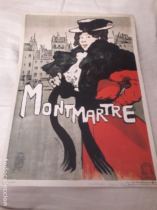 CARTEL MONTMARTRE EDITIONS EPHI PARIS (Coleccionismo - Carteles Gran Formato - Carteles Publicitarios)