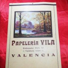 Carteles Publicitarios: CARTEL ANTIGUO PAPELERIA VILLA VALENCIA MEDIDAS: 50 X 31 . Lote 171801503