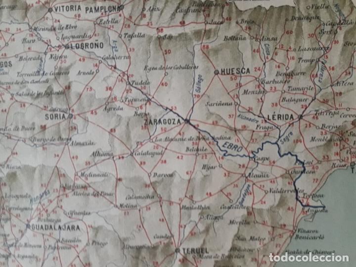 Carteles Publicitarios: Cartel Mapa de itinerarios años 30 -TALLERES VULCAN - ZARAGOZA, Ver, - Foto 4 - 172095605