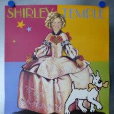 Affiches Publicitaires: SHIRLEY TEMPLE Y MILU PERRO DE TINTIN - AÑO 1995 - ANTONIO DE FELIPE, MUSEO DE LA CIUTAT, VALENCIA. Lote 266859149