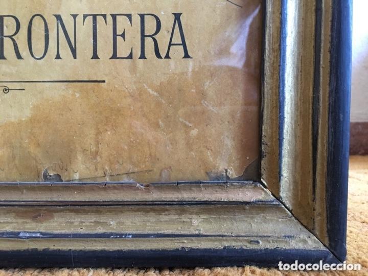 Carteles Publicitarios: Cartel publicidad Cognac Sanchez Romate Jerez Duque de Almodovar del Rio + carpintería San José - Foto 3 - 173659148